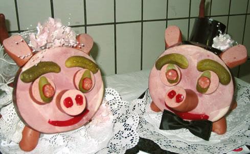 Brautpaar aus Fleisch
