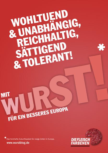 WURST Partei Wahlplakat