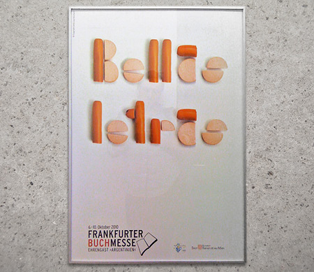 Bellas Letras aus Wurst - Plakat zur Frankfurter Buchmesse 2010