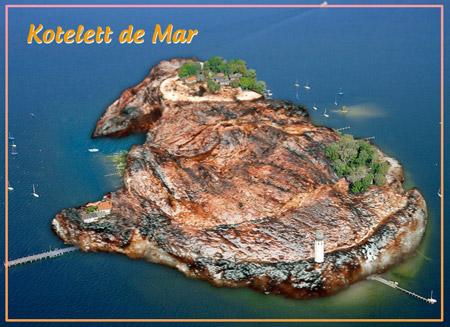 Kotelett de Mar - Ansichtkarte aus einem antivegetarischen Urlaub